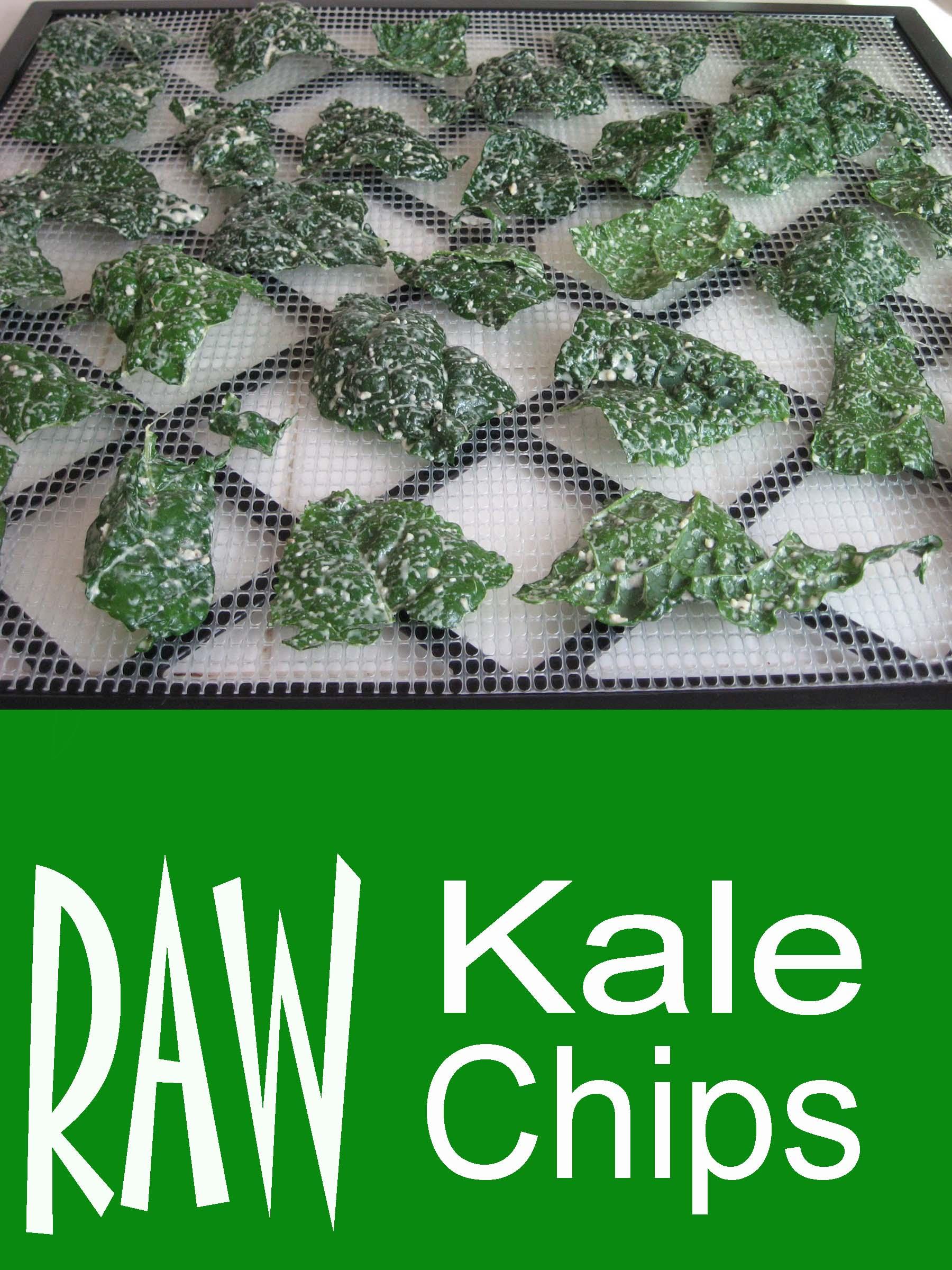 raw kale chhips