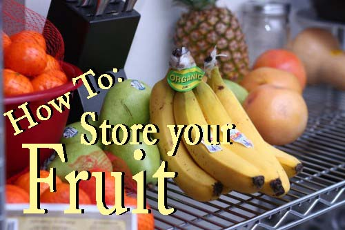 how to store fruit