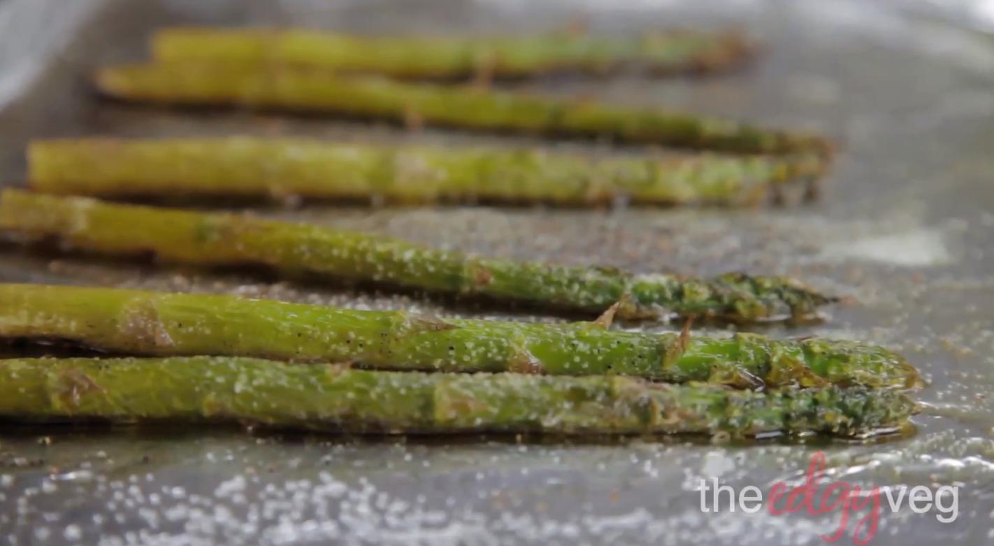 vegan asparagus grilled cheese
