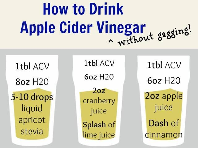 how to drink ACV