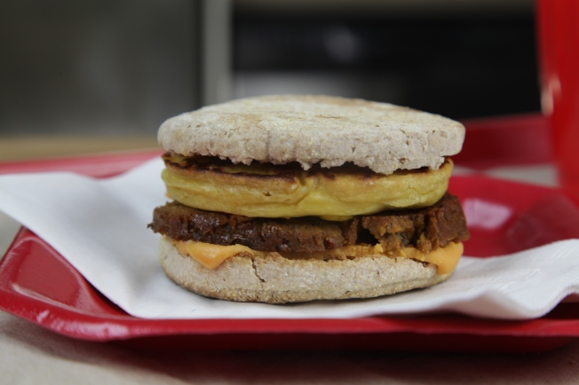 Vegan egg mcmuffin