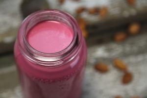 pink almond milk