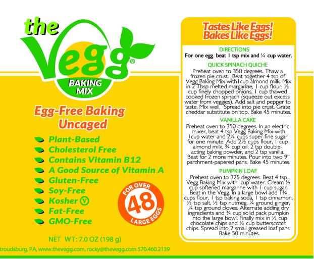 The Vegg egg replacer